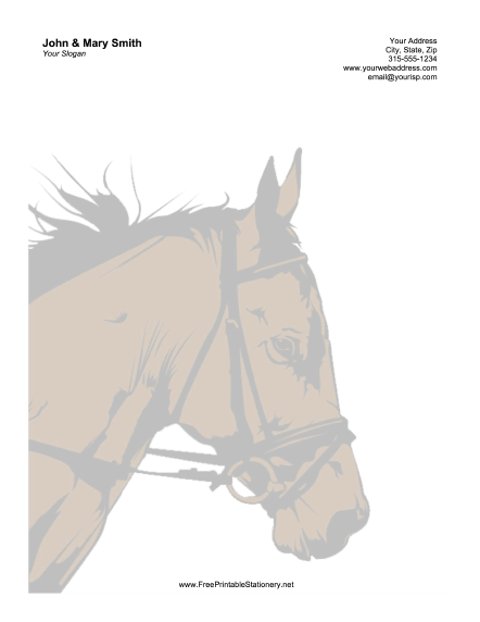 Horse Sunset stationery design