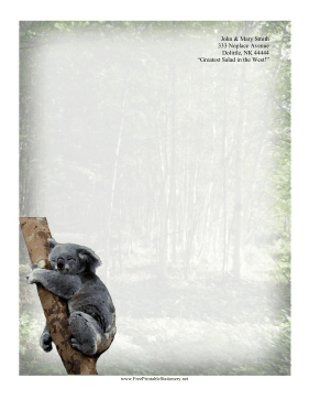 Koala Stationery stationery design