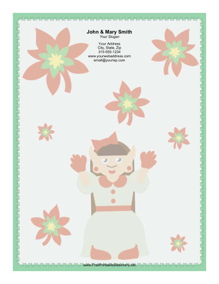 Lady Elf in White stationery design