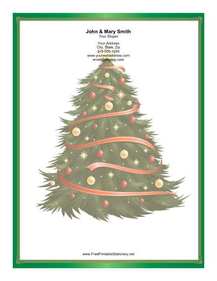 Large Christmas Tree Garlands stationery design