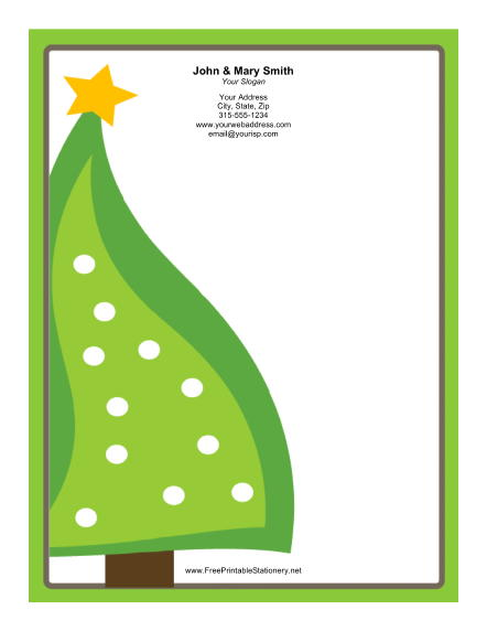 free christmas stationery templates word - Oyle.kalakaari.co
