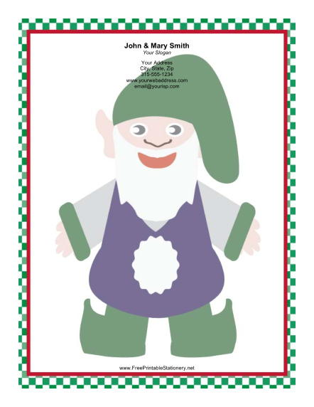 Large Elf Floppy Hat stationery design