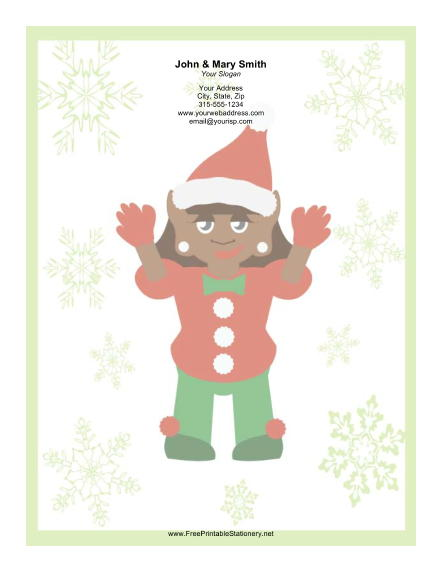 Large Elf Santa Hat stationery design