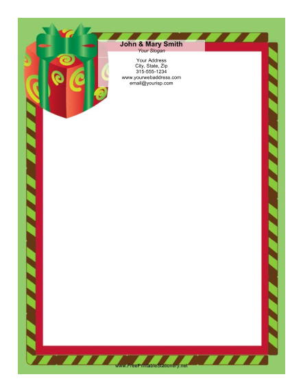 Large Gift stationery design
