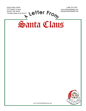 Letter From Santa Stationery stationery design
