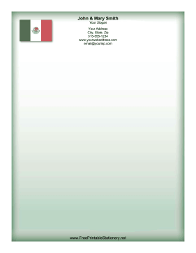 Mexico Flag stationery design
