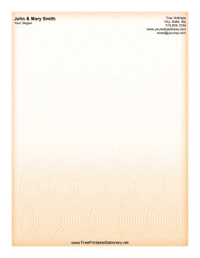 Orange Pattern stationery design