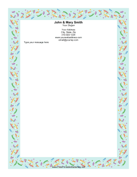Party Confetti Blue stationery design