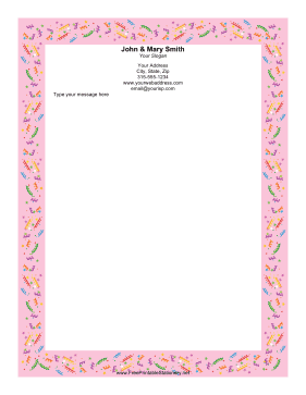 Party Confetti Pink stationery design