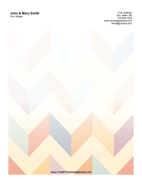 Pastel Chevron stationery design