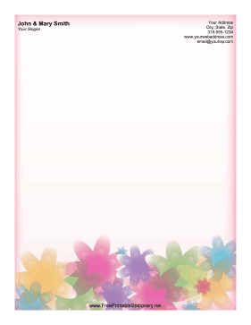 image relating to Free Printable Stationery Templates for Word identify Pastel Flower Stationery