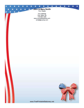 patriotic stationery