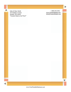 Pencil Border Stationery stationery design