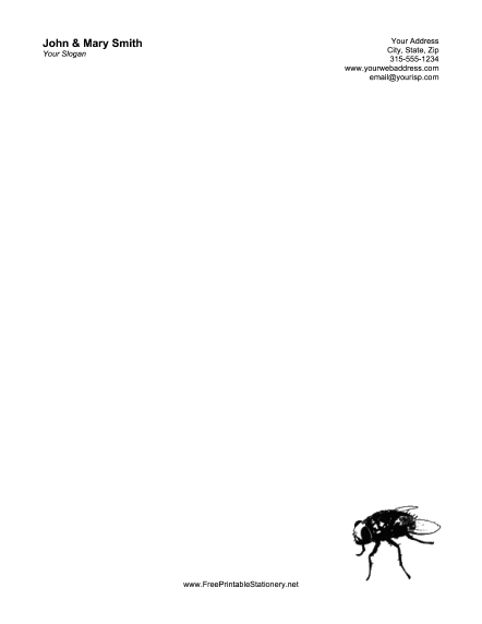 Pest Control stationery design