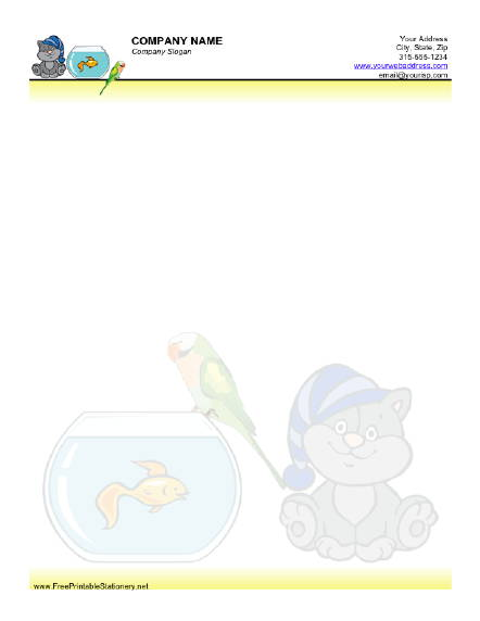 Pets stationery design