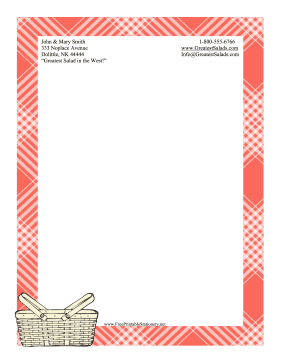 Picnic Stationery stationery design