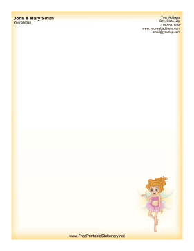 Pink Fairy stationery design