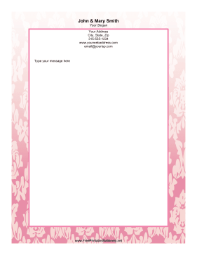 Pink Leaf stationery design