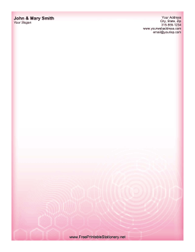 Pink Tech stationery design