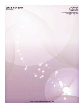 Purple Sparkle stationery design