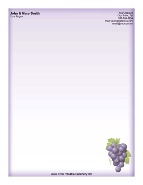 Purple Wine Grapes stationery design