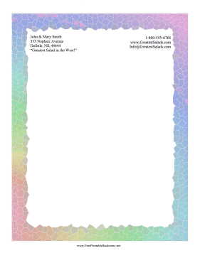 Rainbow Mosaic Stationery stationery design