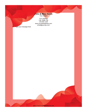 Red Wave stationery design