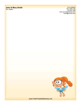 Redhead Fairy stationery design
