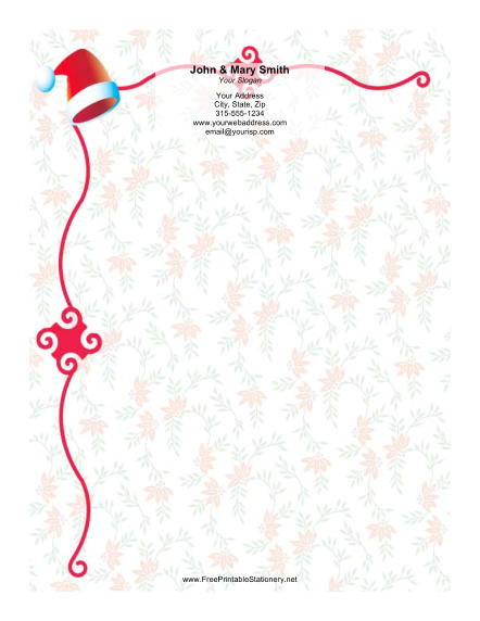 Santa Hat stationery design