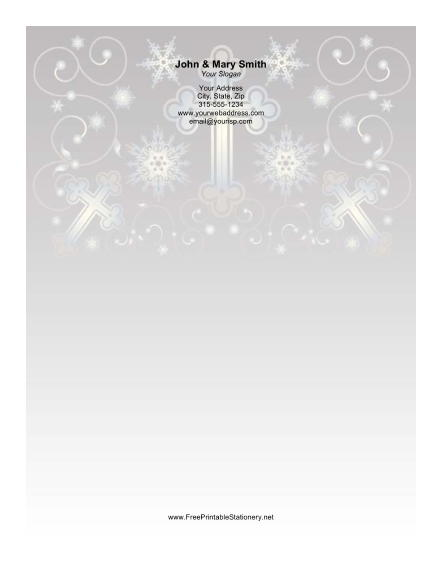 Several Crosses Ornate Background stationery design