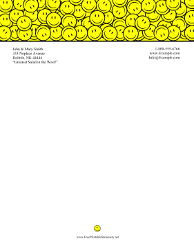 Smiley Face Stationery stationery design