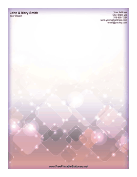 Sparkle Disco stationery design