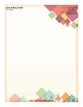 Stained Glass stationery design