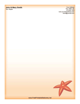 Starfish stationery design