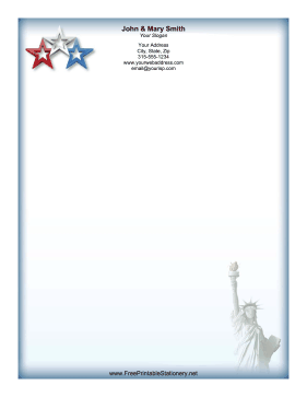 Stars Liberty stationery design