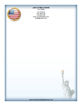 Statue Of Liberty stationery design