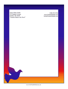 Sunrise Dove Stationery stationery design