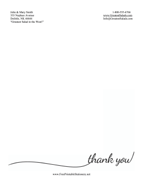 Thank You Stationery Simple stationery design