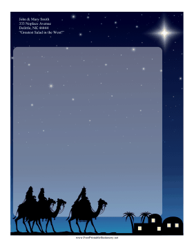 Three Wise Men Stationery stationery design