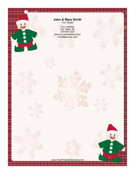 Two Elves stationery design