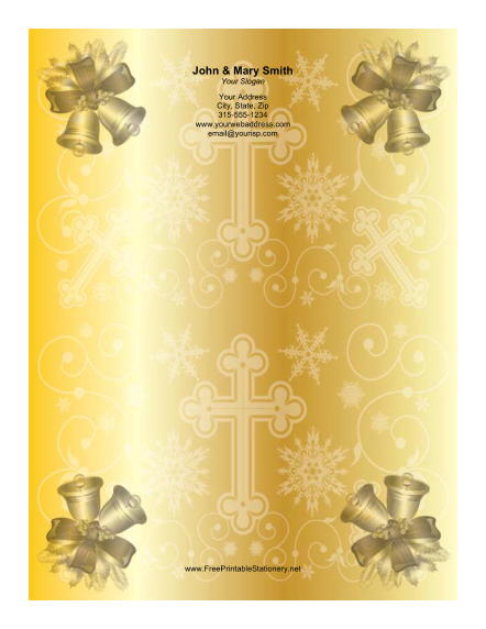 Two Golden Bells stationery design