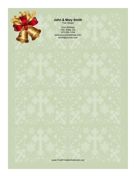 Two Holiday Bells stationery design