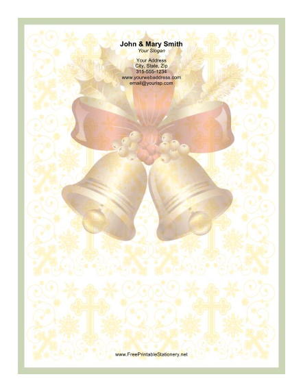 Two Large Bells stationery design