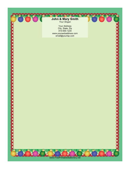 Two Ornaments stationery design