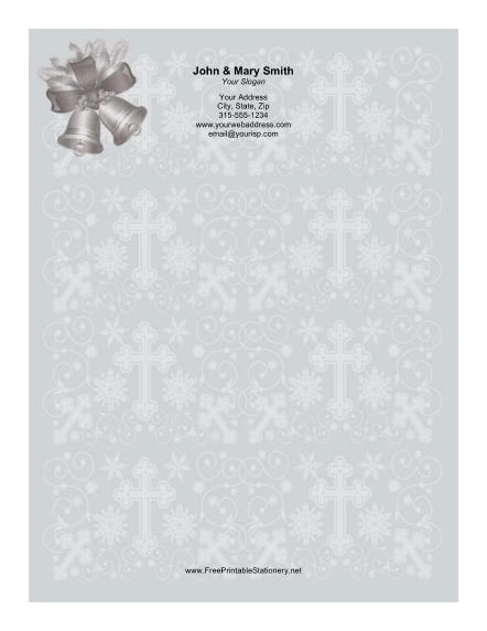Two Silver Bells stationery design