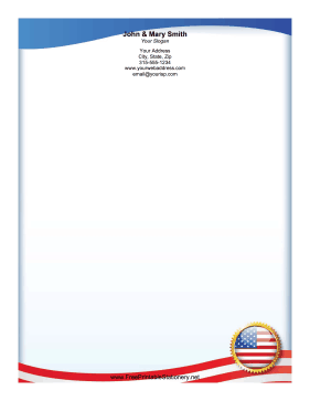 USA Flag stationery design