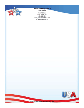 USA Star stationery design