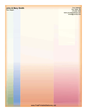 Vertical Pastel Stripes stationery design