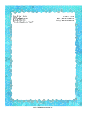 Water Mosaic Stationery stationery design
