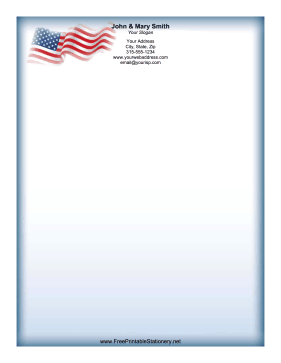 Waving Flag stationery design